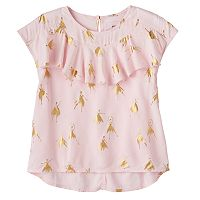 Girls 4-12 SONOMA Goods for Life™ Ruffle Front Printed Top
