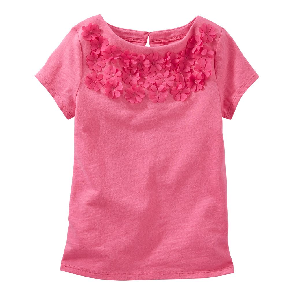 Girls 4-8 OshKosh B'gosh® Floral Embellished Tee