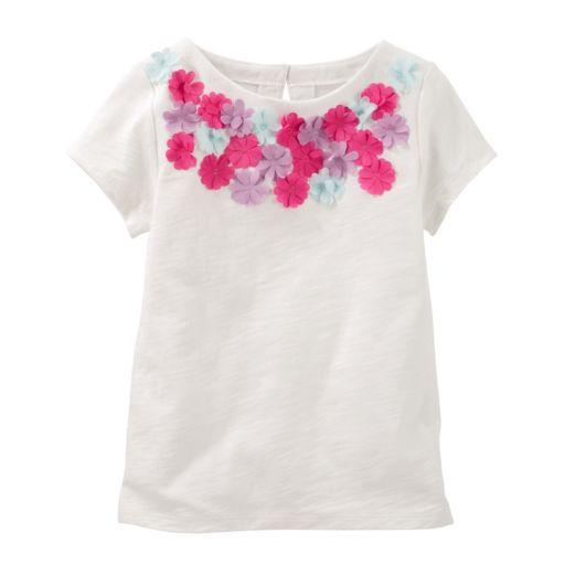 Girls 4-8 OshKosh B'gosh® Floral Embellished Tee