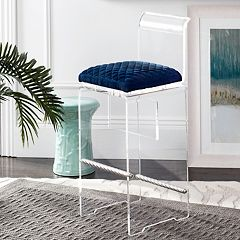 Safavieh Couture Upholstered Acrylic Bar Stool