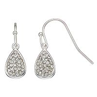 LC Lauren Conrad Nickel Free Pave Teardrop Earrings