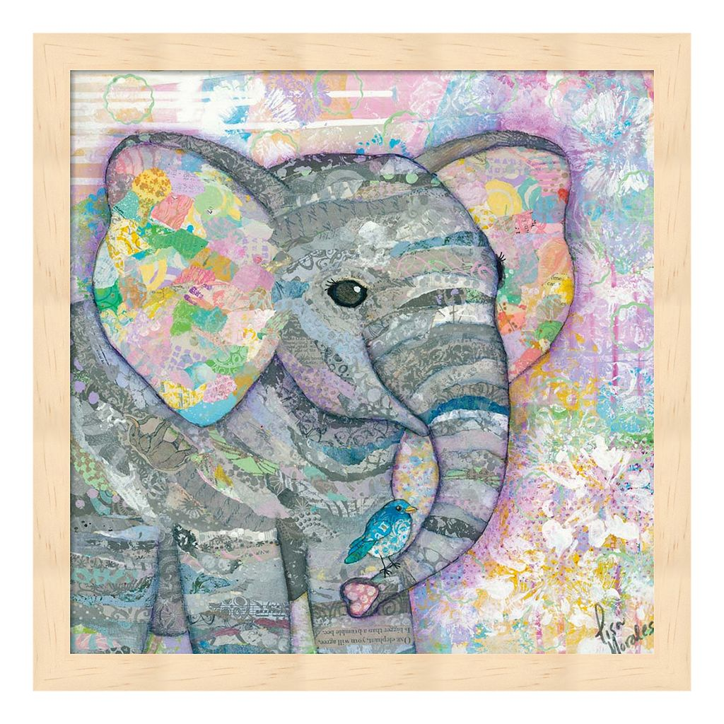 Sweet Baby Elephant I Framed Wall Art
