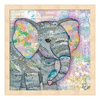 Sweet Baby Elephant I Framed Wall Art