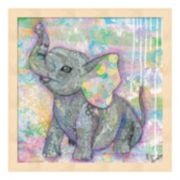 Sweet Baby Elephant II Framed Wall Art