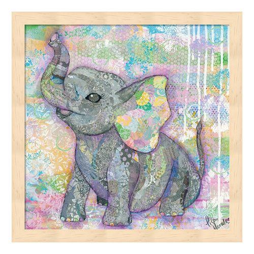 Sweet Baby Elephant II Framed Wall Art