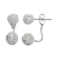 LC Lauren Conrad Cubic Zirconia Ball Nickel Free Front Back Earrings