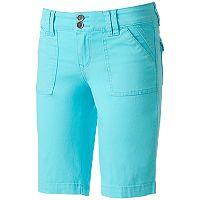 Juniors' Unionbay Blanche Stretch Twill Bermuda Shorts