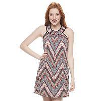 Juniors' Trixxi Print Halter Dress