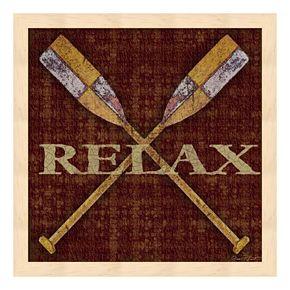 """Relax"" Framed Wall Art"