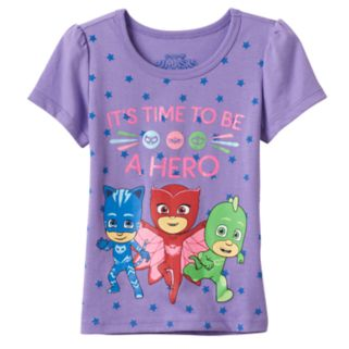 Toddler Girl PJ Masks Owlette, Catboy & Gekko Star Graphic Tee