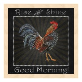 """Good Morning"" Rooster I Framed Wall Art"