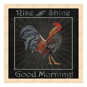 """Good Morning"" Rooster I Framed Wall Art"
