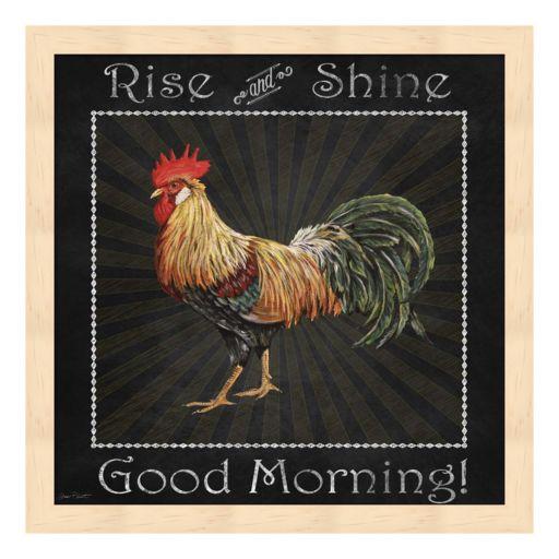 """Good Morning"" Rooster II Framed Wall Art"