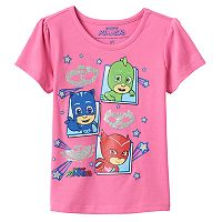 Toddler Girl PJ Masks Owlette, Catboy & Gekko Glitter Graphic Tee