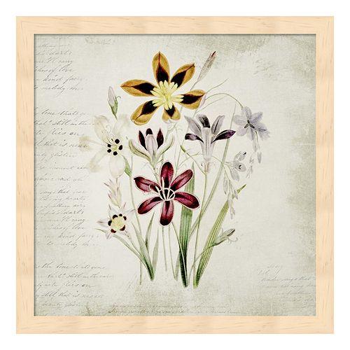 Wild Flowers One Framed Wall Art