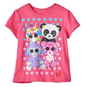 Toddler Girl TY Beanie Boos Grapes, Wishful, Glamour & Bamboo Graphic Tee