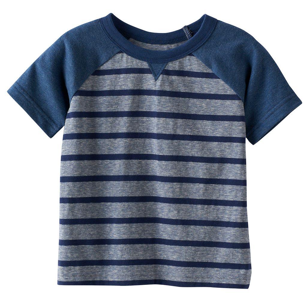 Baby Boy Jumping Beans® Striped Raglan Tee