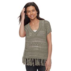 Petite SONOMA Goods for Life™ Pointelle V-Neck Sweater