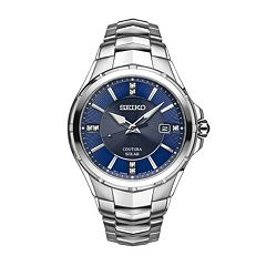 Seiko Men's Coutura Diamond Stainless Steel Solar Watch - SNE443
