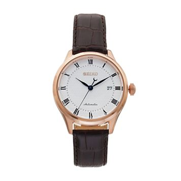Seiko Men's Core Leather Automatic Watch - SRP772
