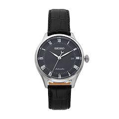 Seiko Men's Core Leather Automatic Watch - SRPA97