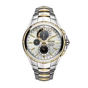 Seiko Men's Coutura Two Tone Stainless Steel Solar Chronograph Watch - SSC560