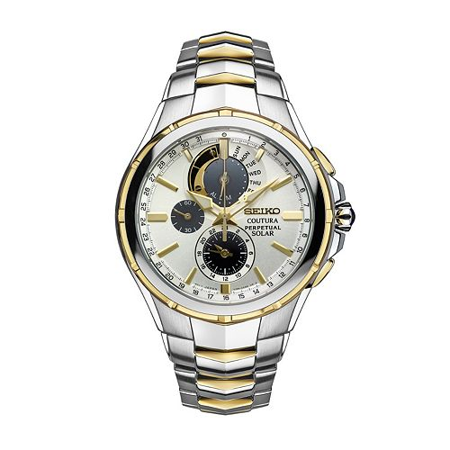 Seiko Men's Coutura Two Tone Stainless Steel Solar Chronograph Watch - SSC560