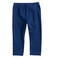Baby Girl Jumping Beans® Faux-Denim Leggings