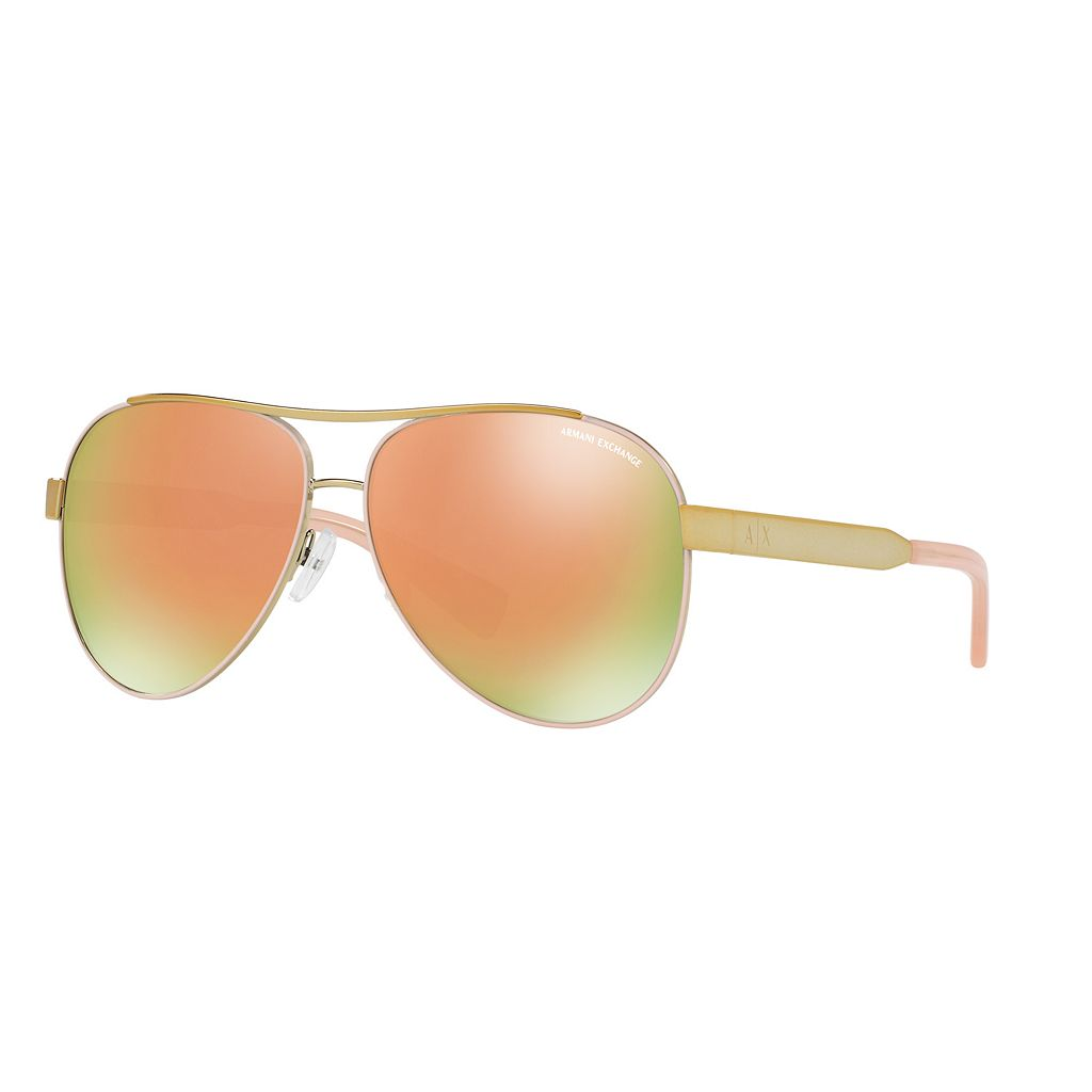 Armani Exchange Forever Young AX2018S 59mm Aviator Mirror Sunglasses