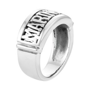 """Territory Sterling Silver """"Marines"""" Ring"""
