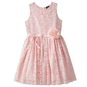 Girls 7-16 & Plus Size Lilt Flower Accent Lace Overlay Dress