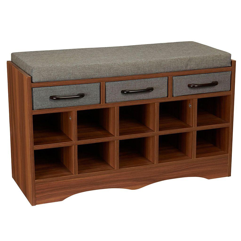 Household Essentials Entryway Shoe Storage Bench