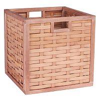 Household Essentials Poplar Wicker Storage Box