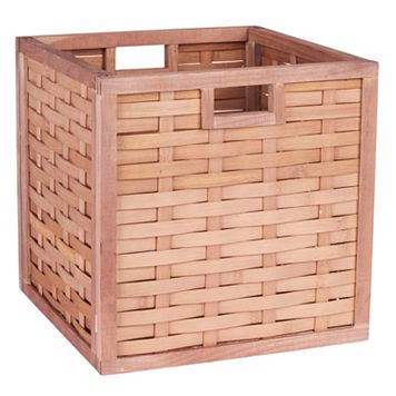 Household Essentials Poplar Wicker Storage Box