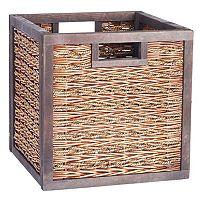 Household Essentials Sea Grass Poplar Wicker Storage Box