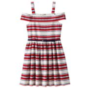 Girls 7-16 Knitworks Belted Cold Shoulder Dress