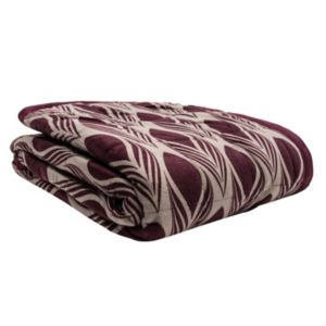 Elle Decor Reversible Graphic Feather Corded Throw