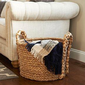 Household Essentials Large Wicker Floor Basket