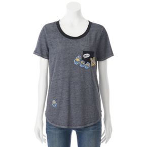 Juniors' Despicable Me Minion Patches Pocket Graphic Tee