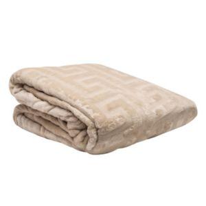 Elle Decor Greek Key Embossed Blanket