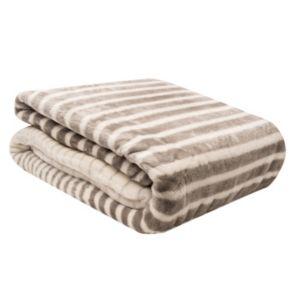 Elle Decor Faux Cashmere Ombre Stripe Blanket