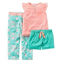 Girls 4-14 Carter's Coral Geometric Pajama Set