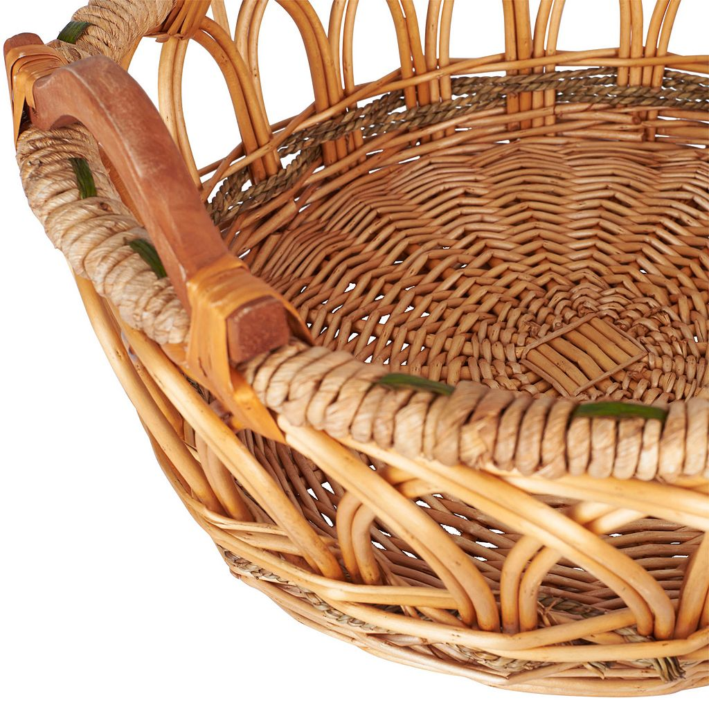 Household Essentials 3-piece Robin Decorative Wicker Basket Set