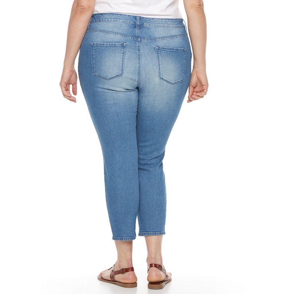 Plus Size Gloria Vanderbilt Alexandra Destruct Ankle Pants