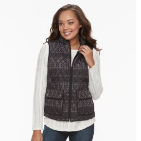 Petite Croft & Barrow® Quilted Vest