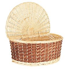 Household Essentials Half Moon Wicker Basket