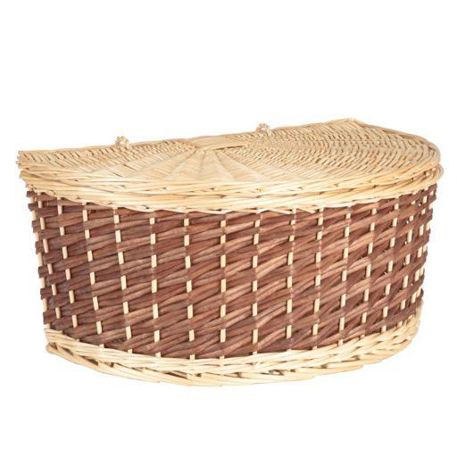 Household Essentials Half Moon Wicker Basket