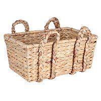 Household Essentials Large Rectangular Floor Basket