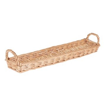 Household Essentials Long Wicker Bread Basket