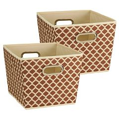 Household Essentials 2 pc Tapered Bin Set